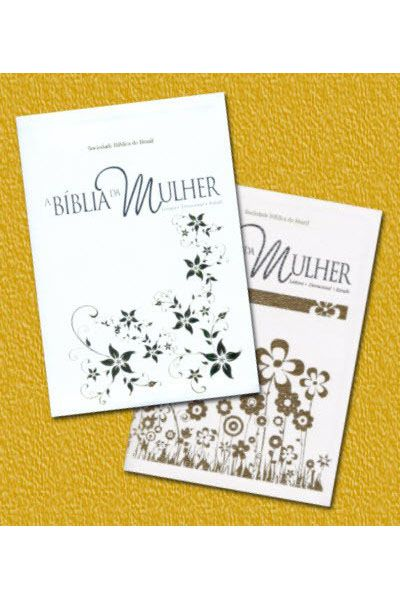 RA057BMRAW - A Bíblia da Mulher - Média Branca com Dourado
