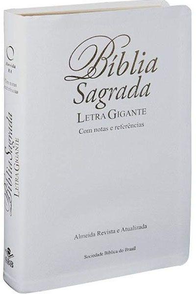 RA067TILGIW: Bíblia Sagrada - Letra Gigante - Índice - Luxo - Branca
