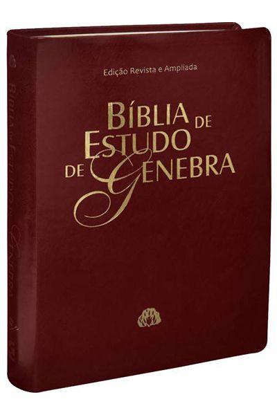 RA085BGRA - Bíblia de Estudo de Genebra - Vinho