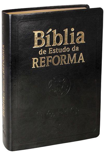 RA085TIBER - Bíblia de Estudo da Reforma - Preta