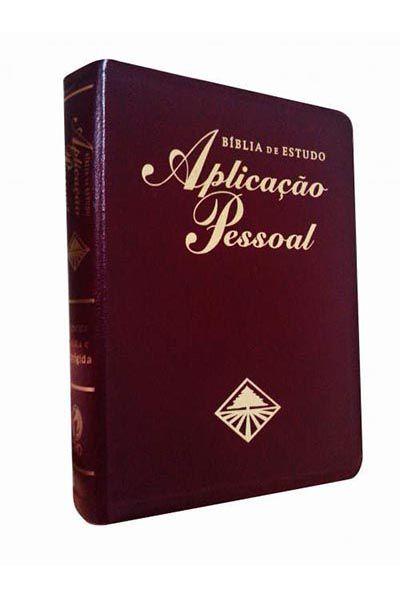 RC087BAP - Bíblia de Estudo Aplicação Pessoal - Grande Vinho