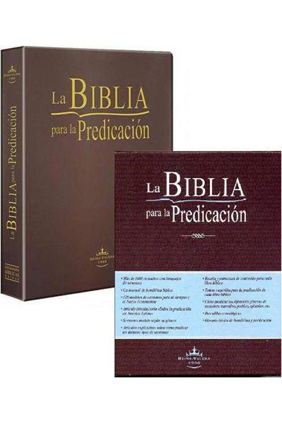 RVR085LG - La Biblia para la Predicación - Letra Grande - Luxo Com Caixa - Marrom Escuro