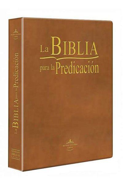 RVR085LG - La Biblia para la Predicación - Letra Grande - Luxo - Marrom Claro