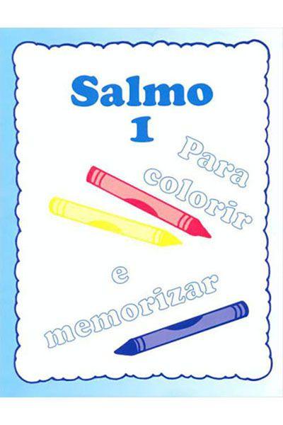 Salmo 1 - Livro Para Colorir e Memorizar
