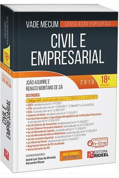Vade Mecum Civil e Empresarial - Legislação Específica - 18ª ed. 2018