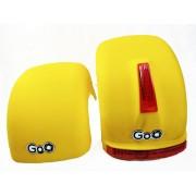 Jogo de Para-lamas Amarelo fosco com seta scooter elétrica citycoco