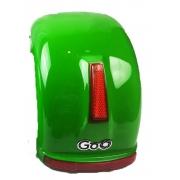Para-lama Traseiro verde com setas para scooter elétrica citycoco