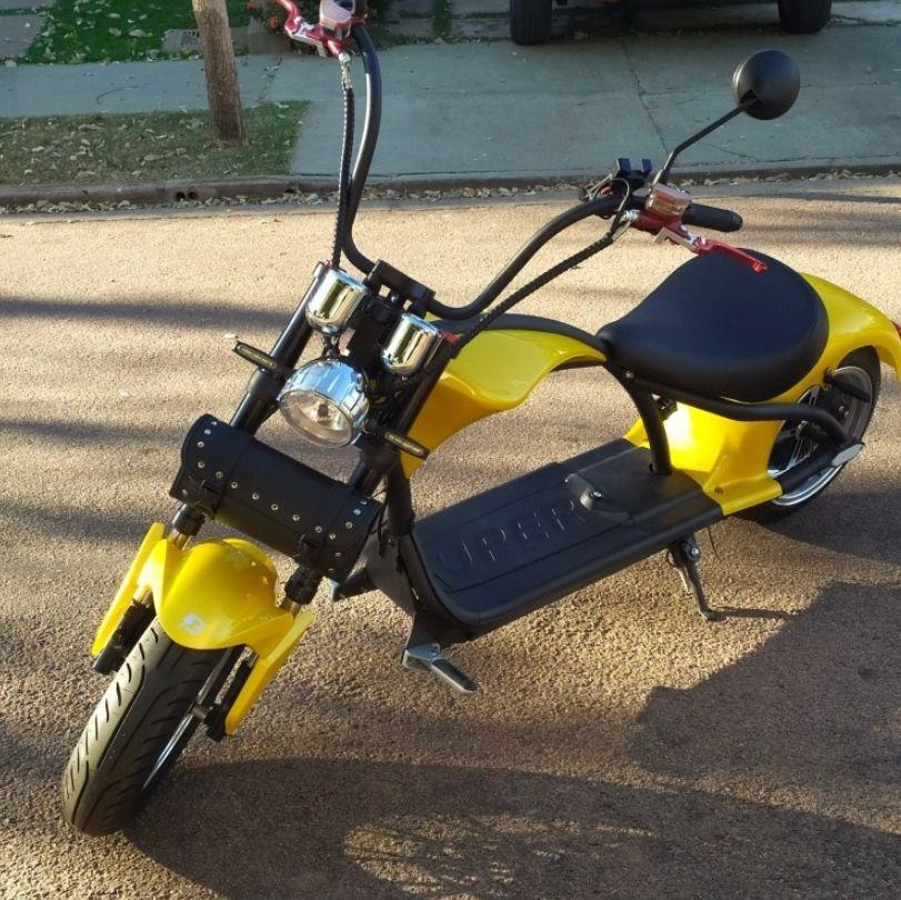 Bagageiro retangular de Couro para scooter elétrica citycoco