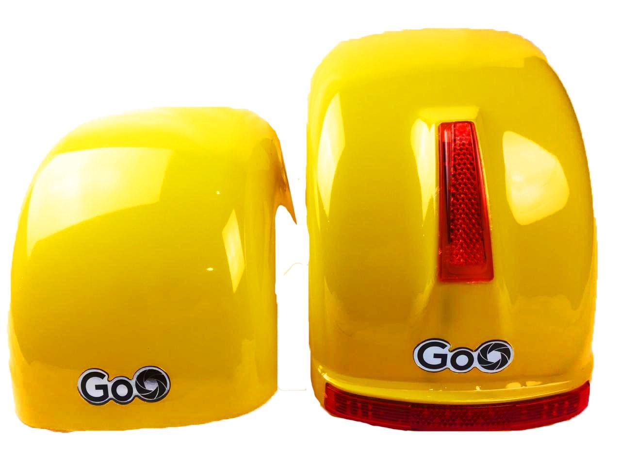 Jogo de Para-lamas Amarelo com seta scooter elétrica citycoco
