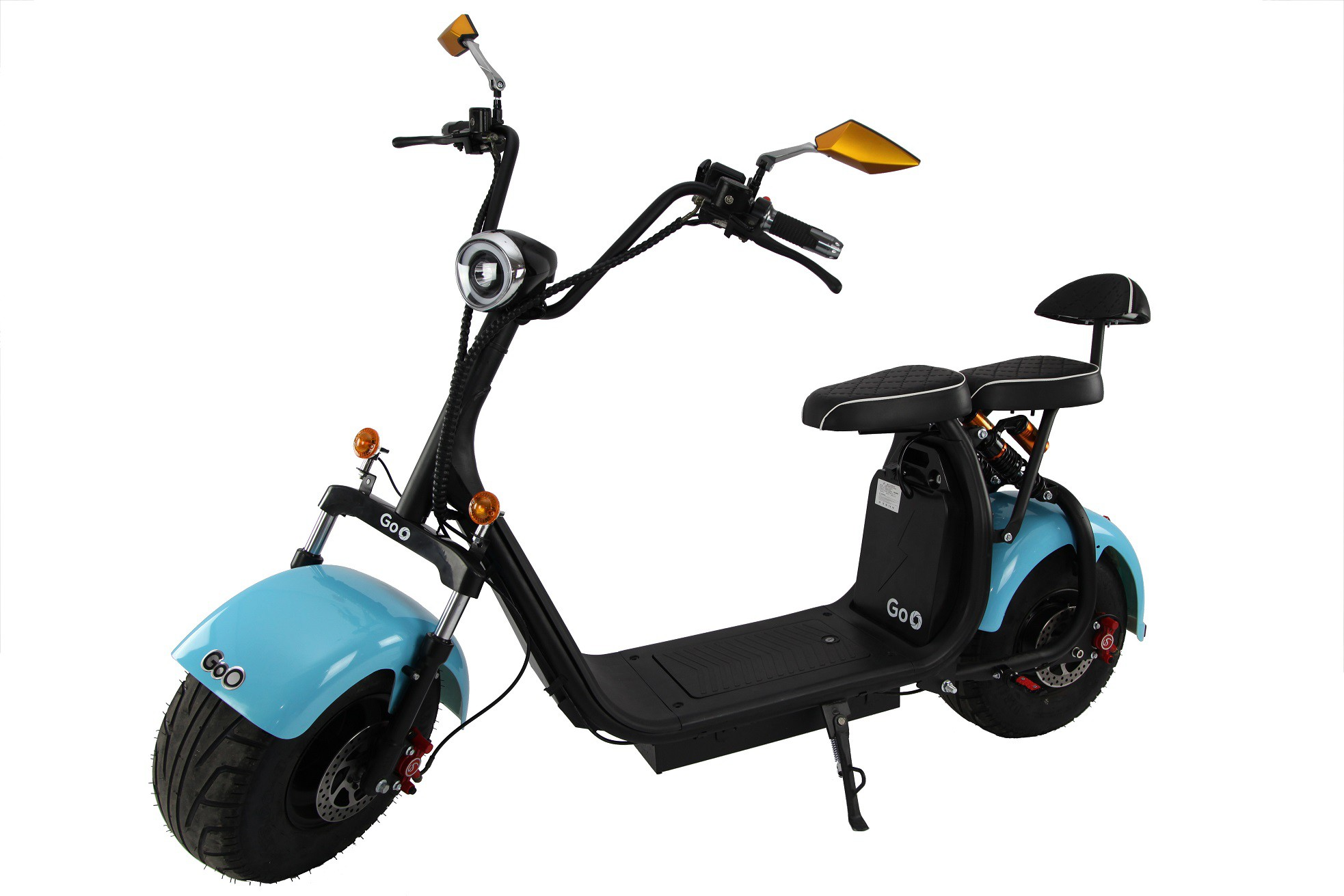 Jogo de Para-lamas Azul claro com seta scooter elétrica citycoco