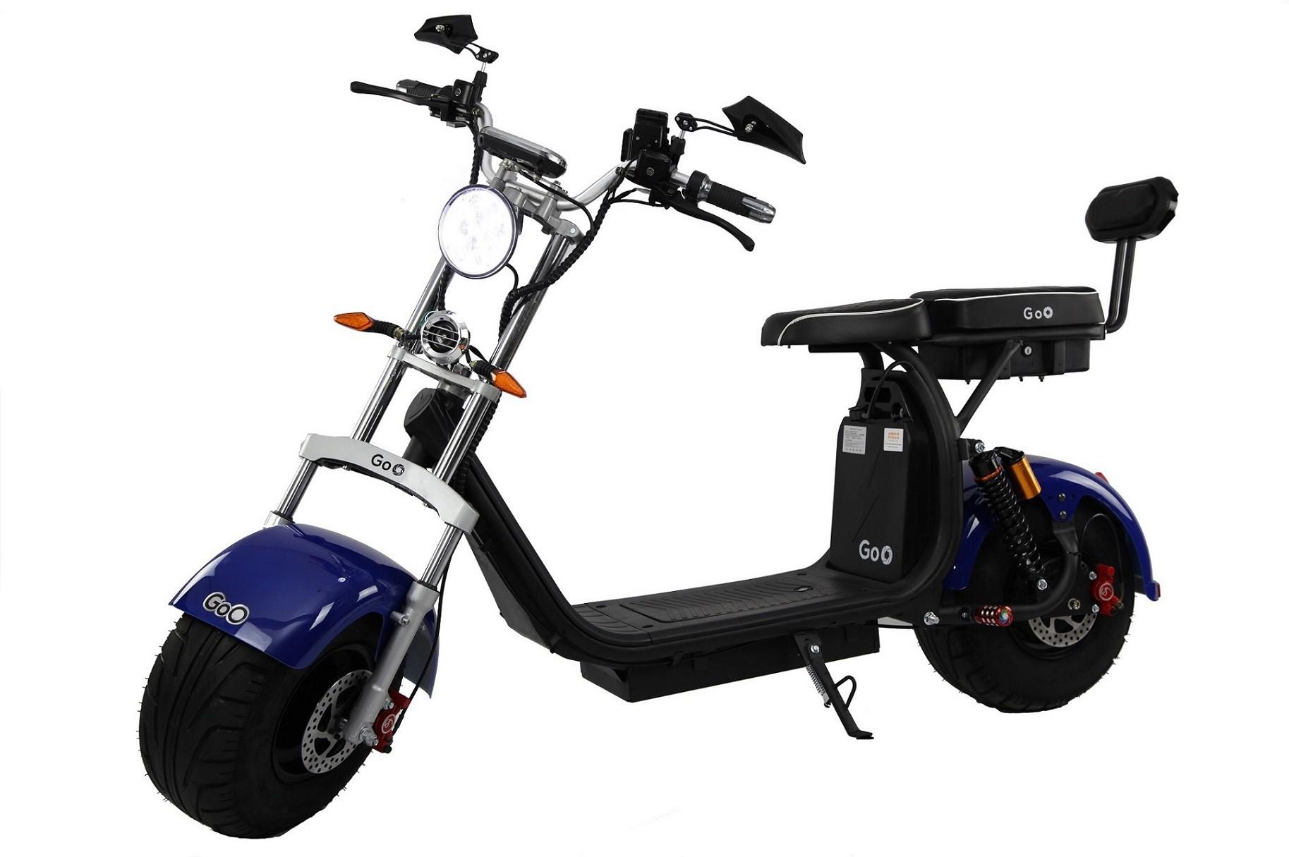 Jogo de Para-lamas azul escuro com seta scooter elétrica citycoco