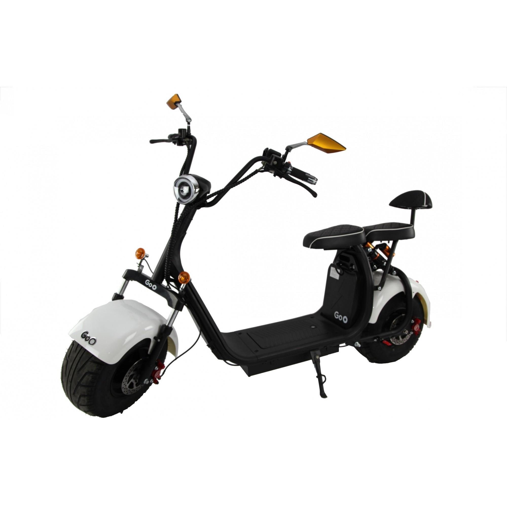 Jogo de Para-lamas Branco com seta scooter elétrica citycoco