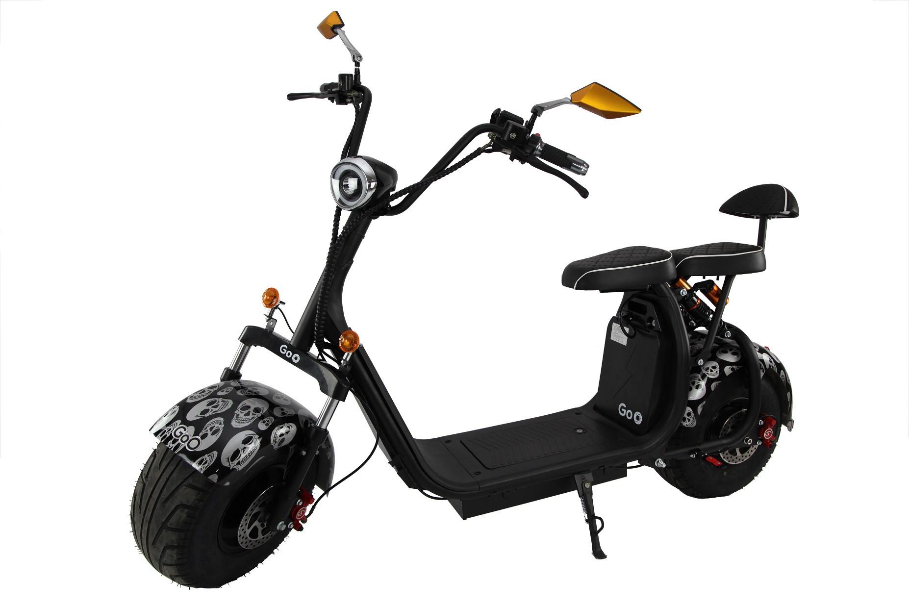 Jogo de Para-lamas caveira com seta scooter elétrica citycoco