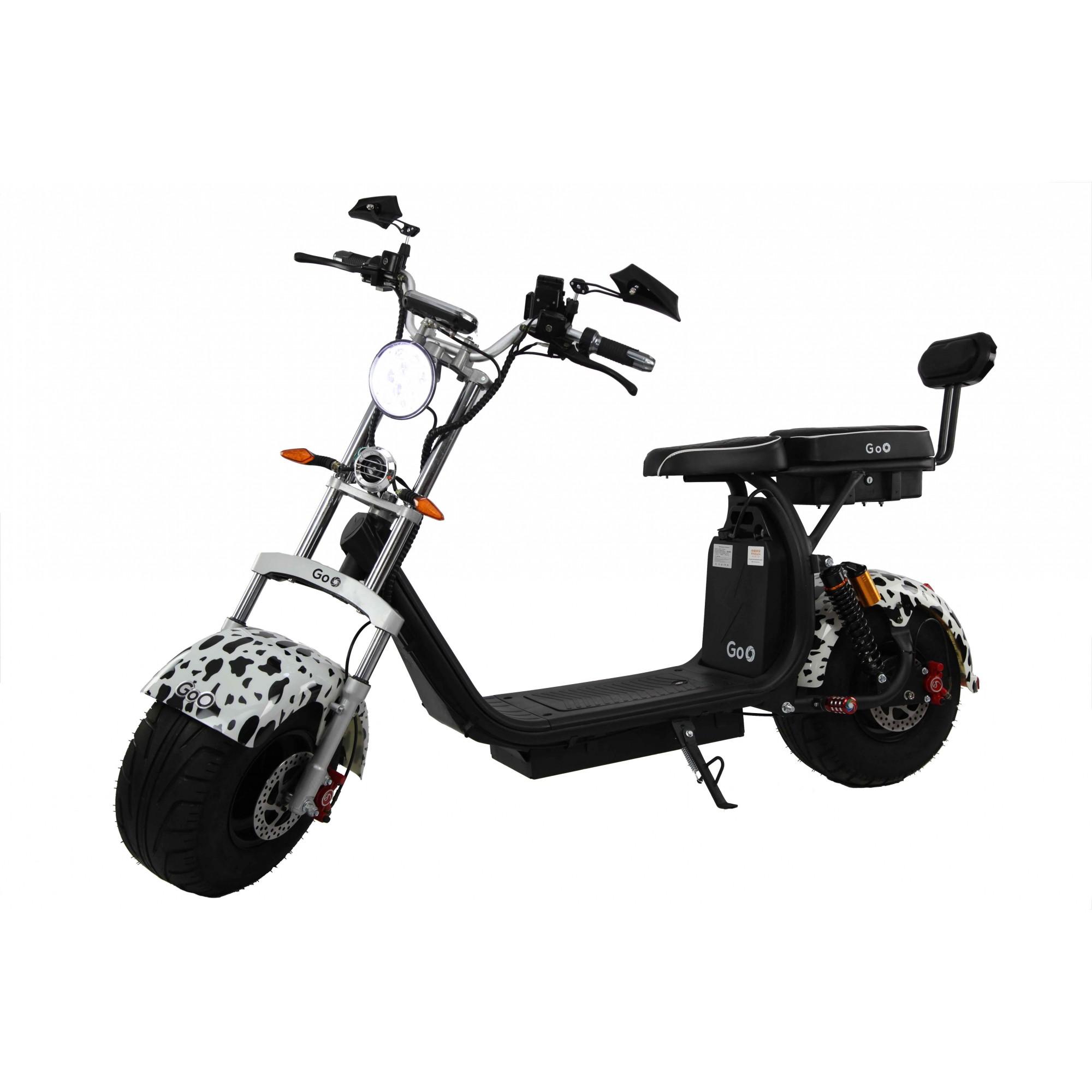 Jogo de Para-lamas dalmatas com seta scooter elétrica citycoco