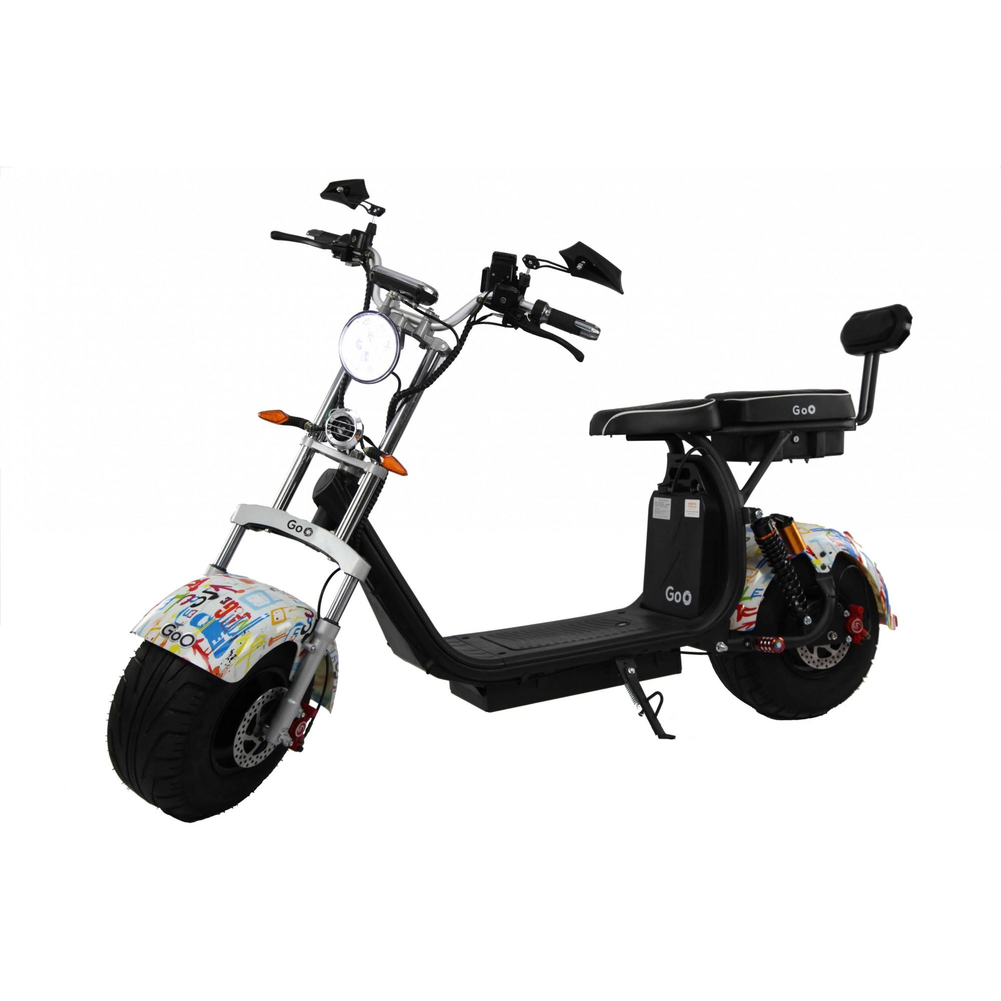 Jogo de Para-lamas escritas com seta scooter elétrica citycoco