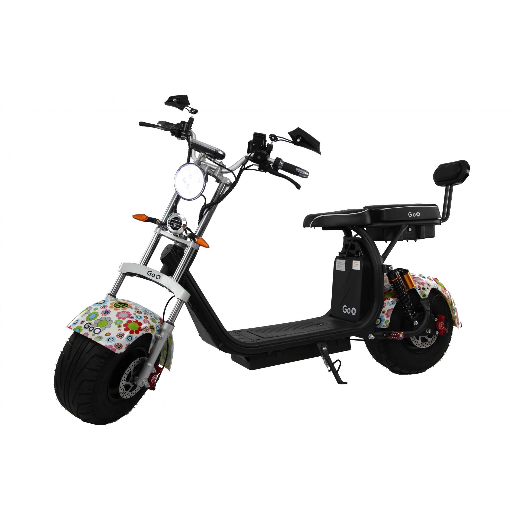 Jogo de Para-lamas Flor com seta scooter elétrica citycoco