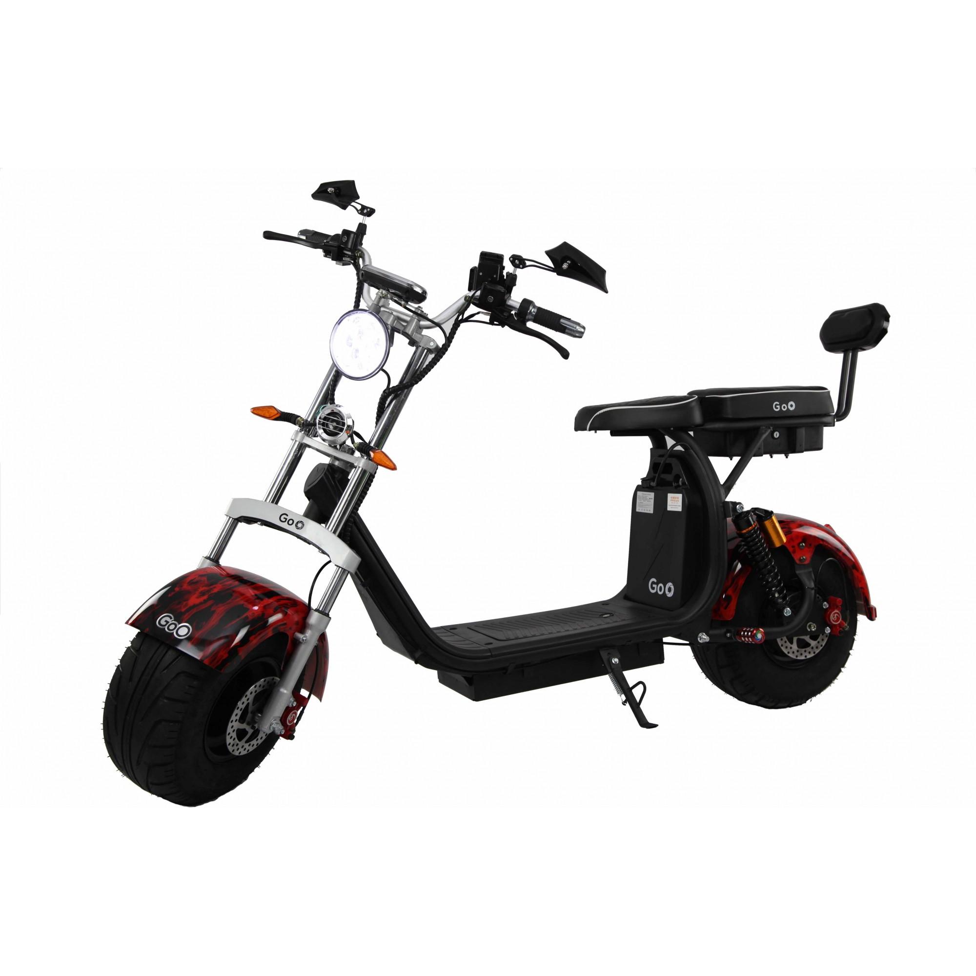 Jogo de Para-lamas Fogo com seta scooter elétrica citycoco