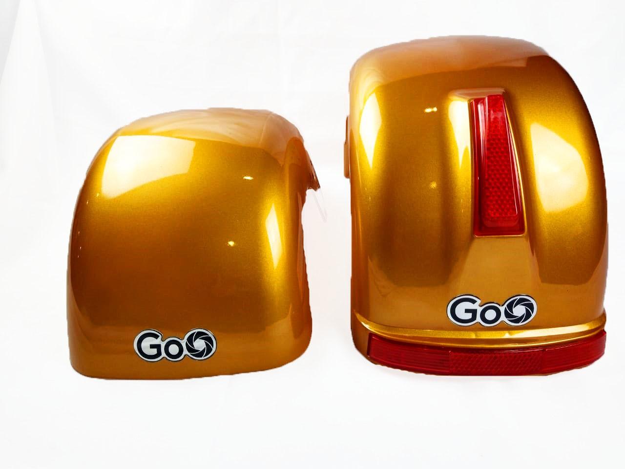 Jogo de Para-lamas ouro com seta scooter elétrica citycoco