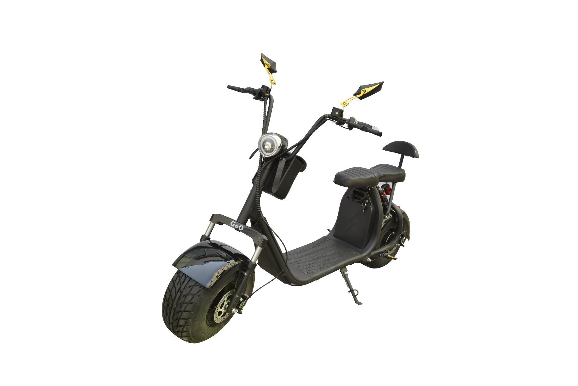 Jogo de Para-lamas Preto com seta scooter elétrica citycoco