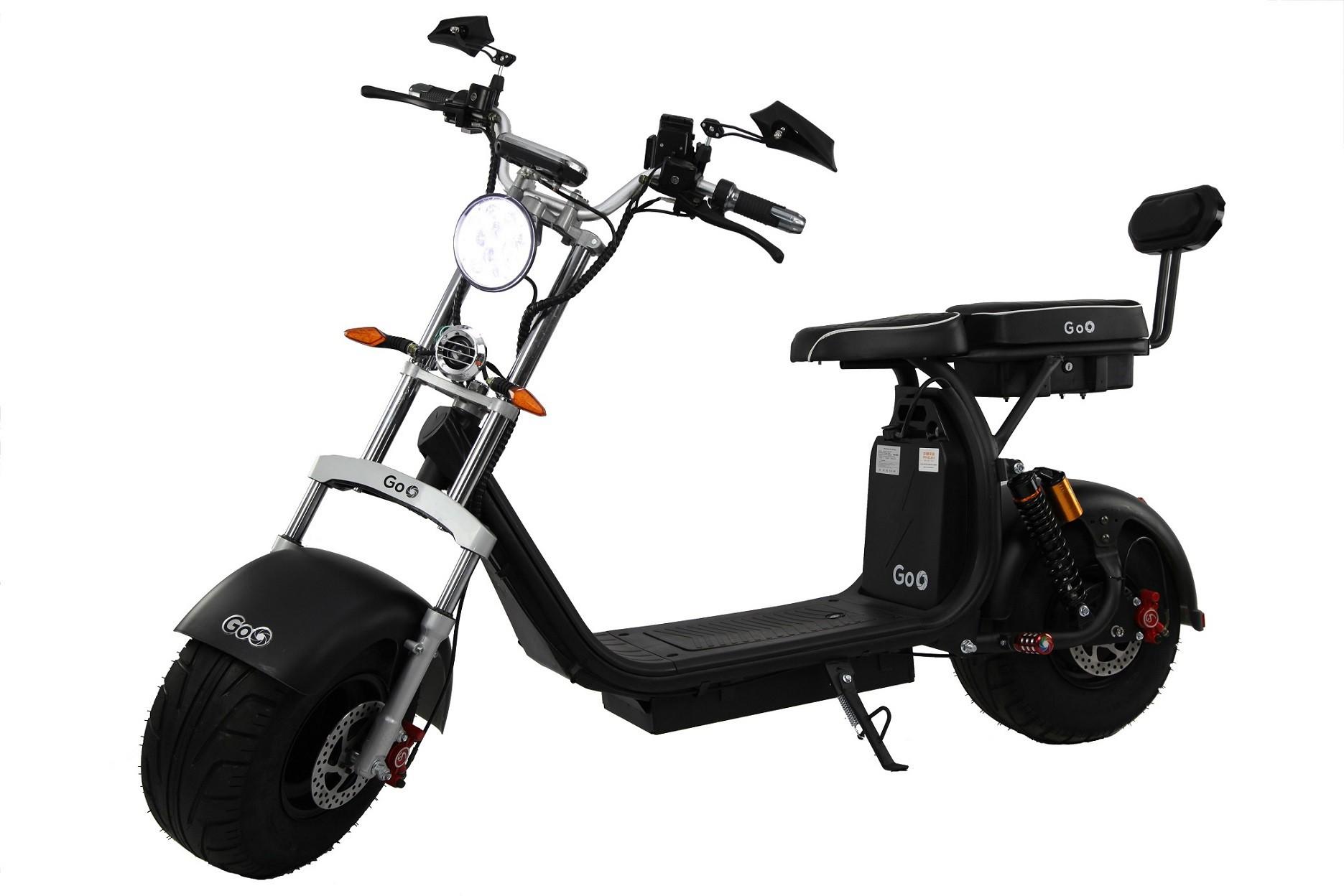 Jogo de Para-lamas Preto fosco com seta scooter elétrica citycoco