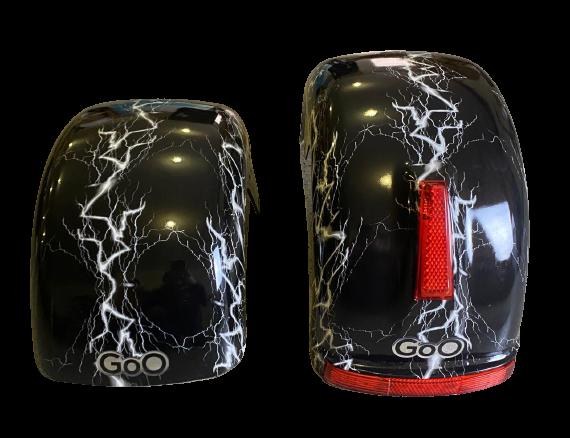 Jogo de Para-lamas Raio com seta scooter elétrica citycoco