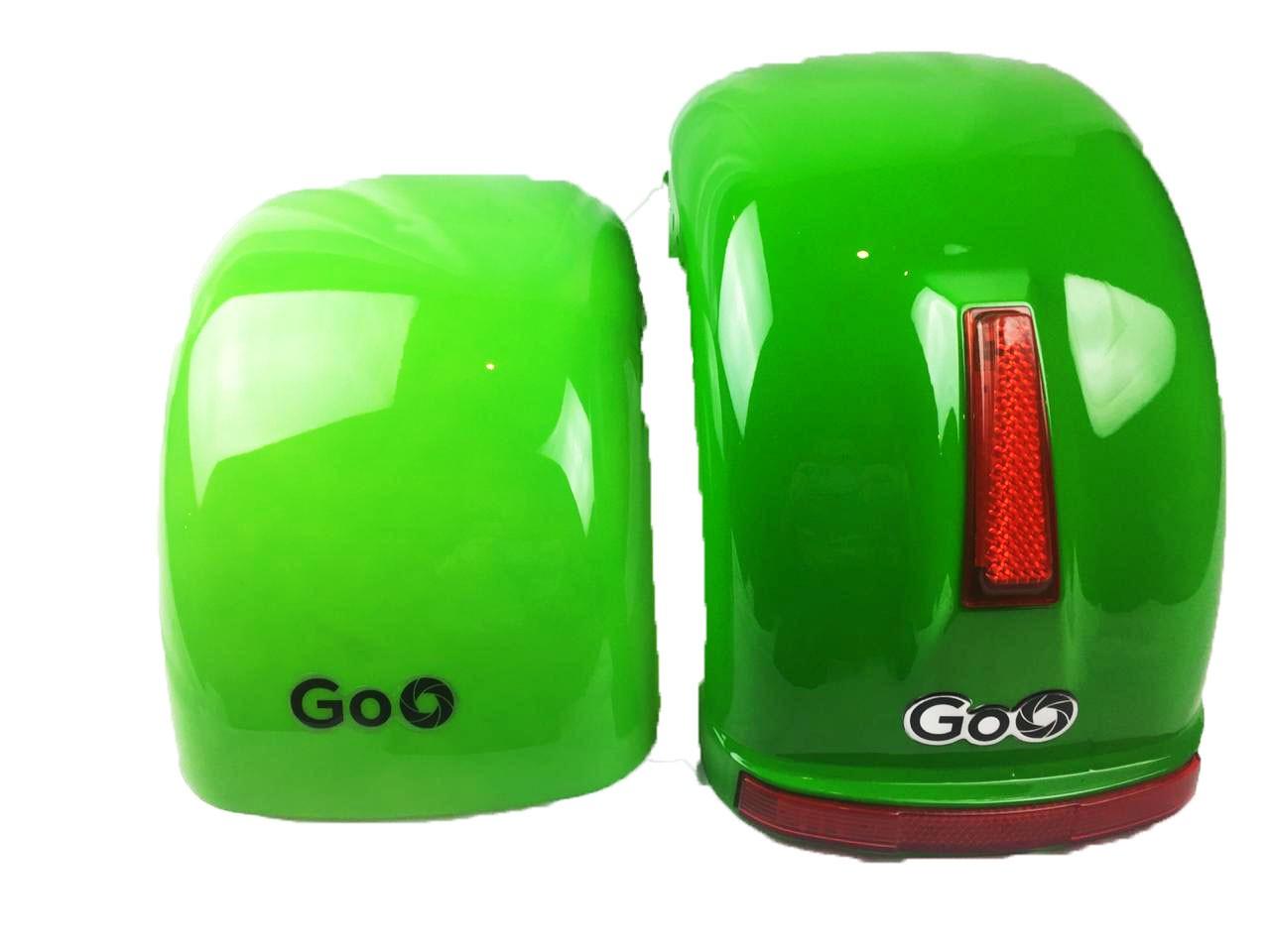 Jogo de Para-lamas verde com seta scooter elétrica citycoco