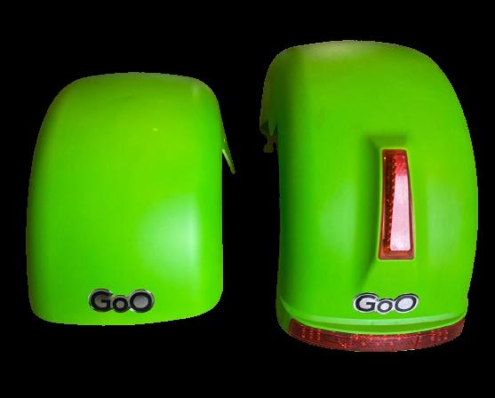 Jogo de Para-lamas verde fosco com seta scooter elétrica citycoco
