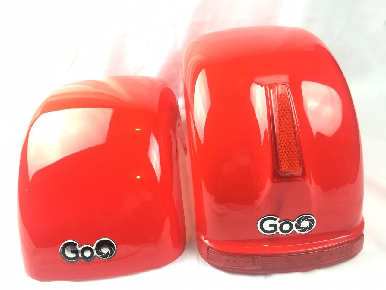 Jogo de Para-lamas Vermelho com seta scooter elétrica citycoco