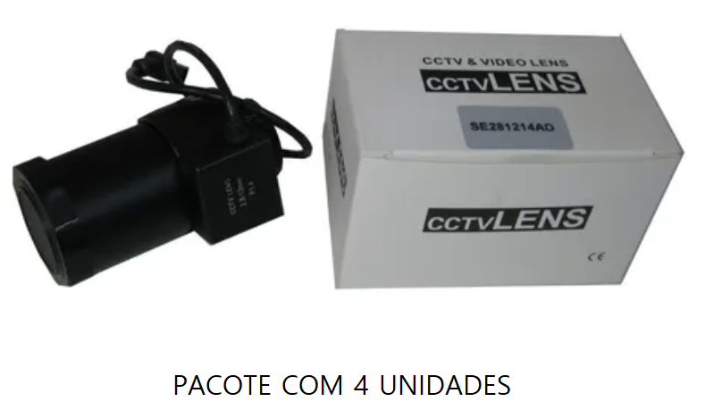 Lente Auto Iris Varifocal 2.8-12 Mm - CFTV - Pacote com 4 Unid.