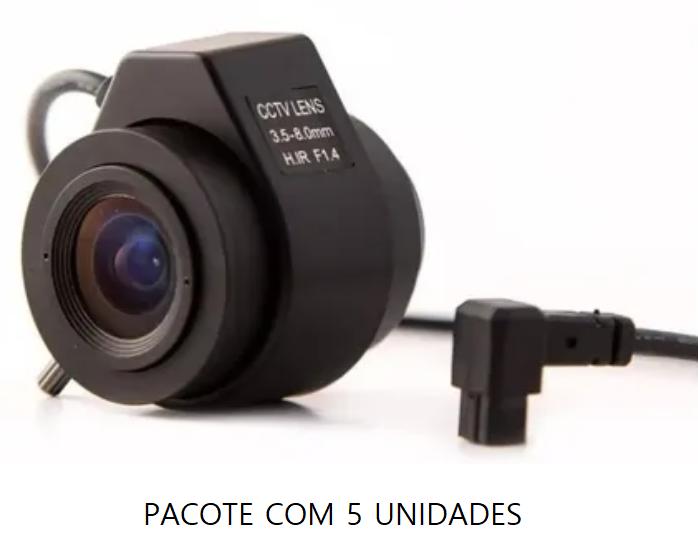 Lente Auto Iris Varifocal 3.5-8 Mm - CFTV - Pacote com 5 Unid.