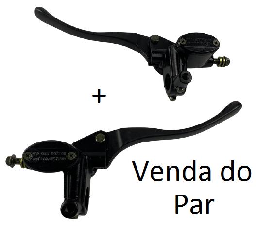 PAR de Manete de freio guidão completa para scooter eletrica citycoco