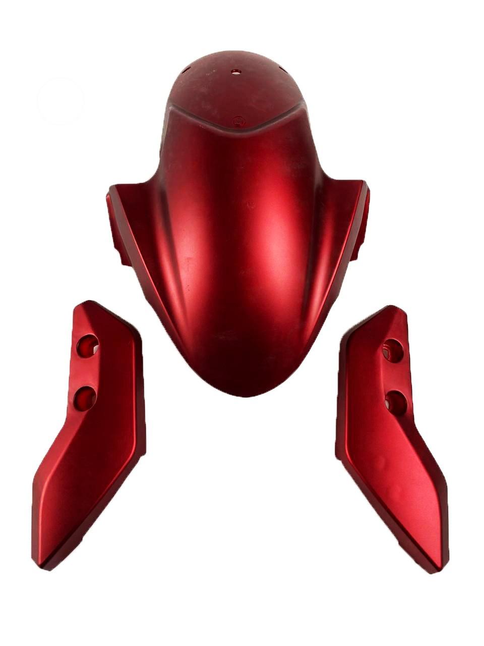 para-choque dianteiro vermelho para scooter elétrica citycoco x14 chopper