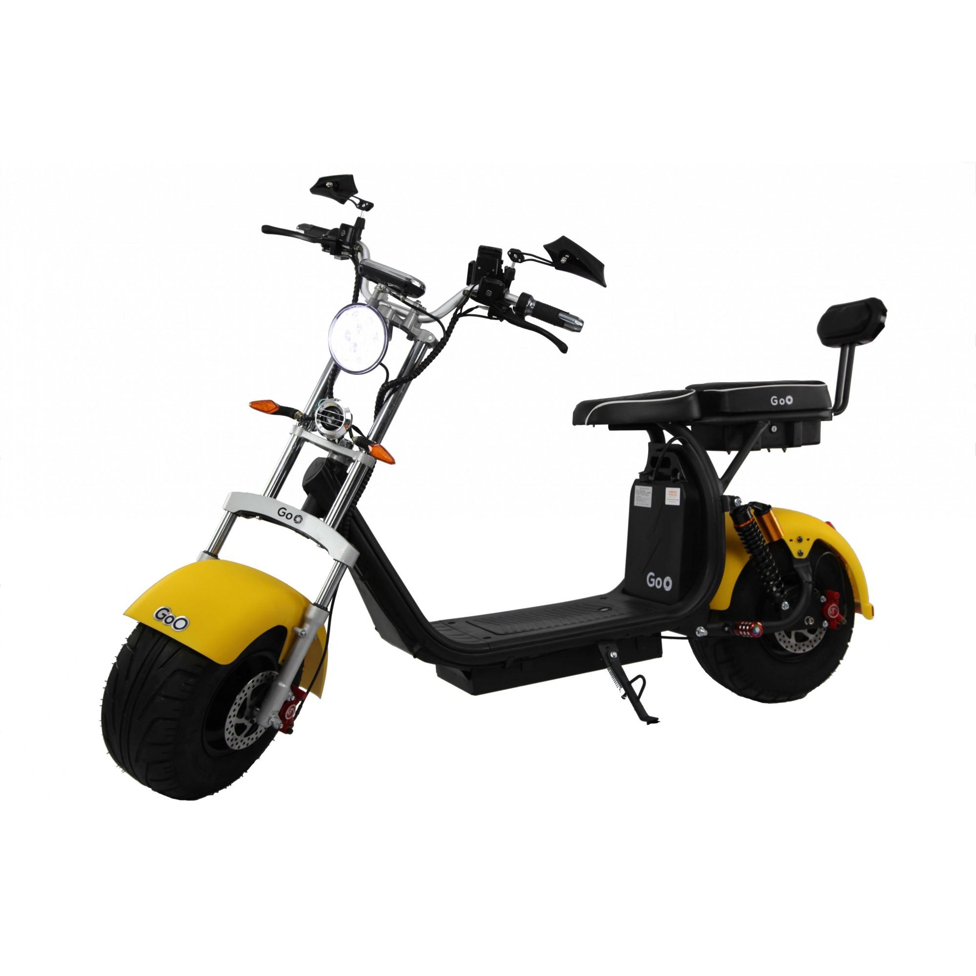 Para-lama Dianteiro amarelo fosco para scooter elétrica citycoco