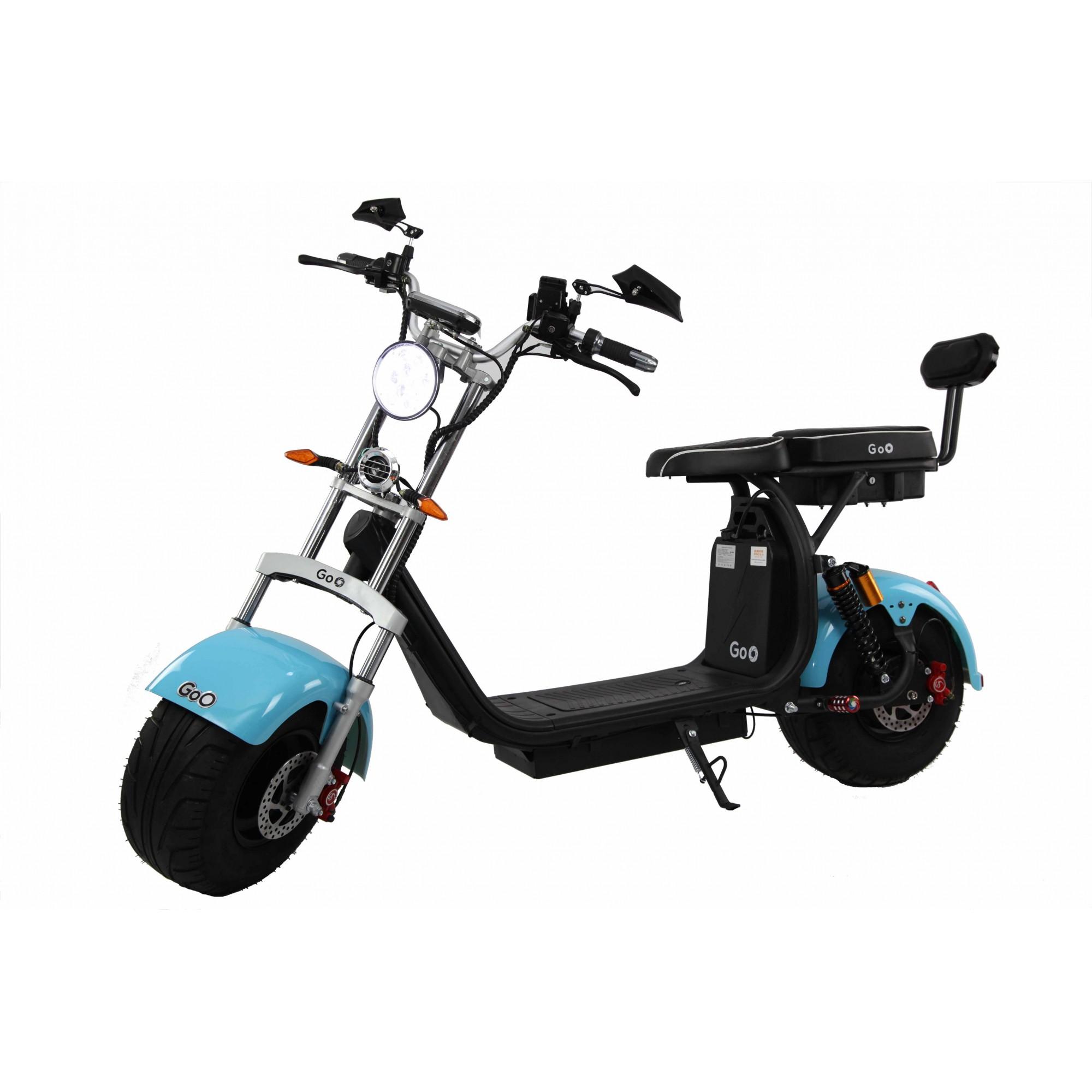 Para-lama Dianteiro azul claro  para scooter elétrica citycoco