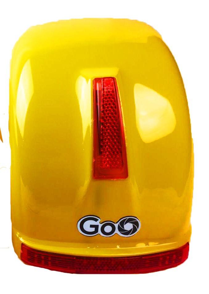 Para-lama Traseiro amarelo com setas para scooter elétrica citycoco