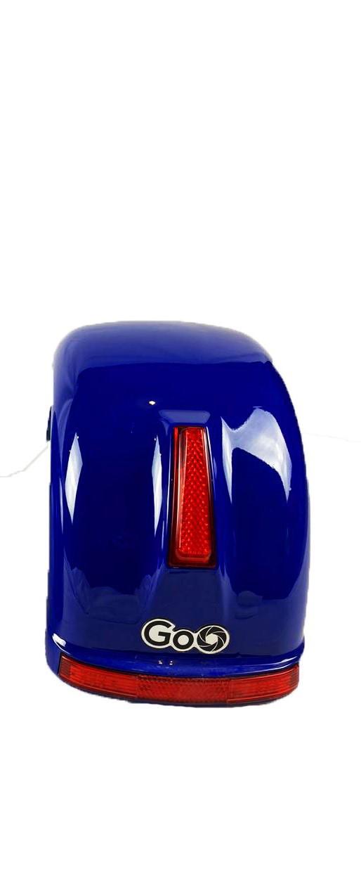 Para-lama Traseiro Azul Escuro com setas para scooter elétrica citycoco