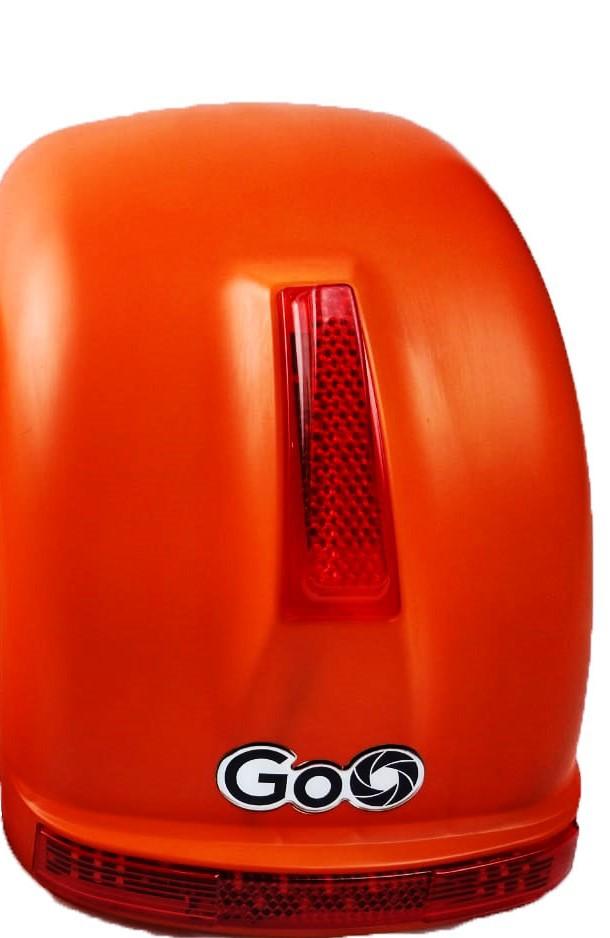 Para-lama Traseiro laranja fosco com setas para scooter elétrica citycoco