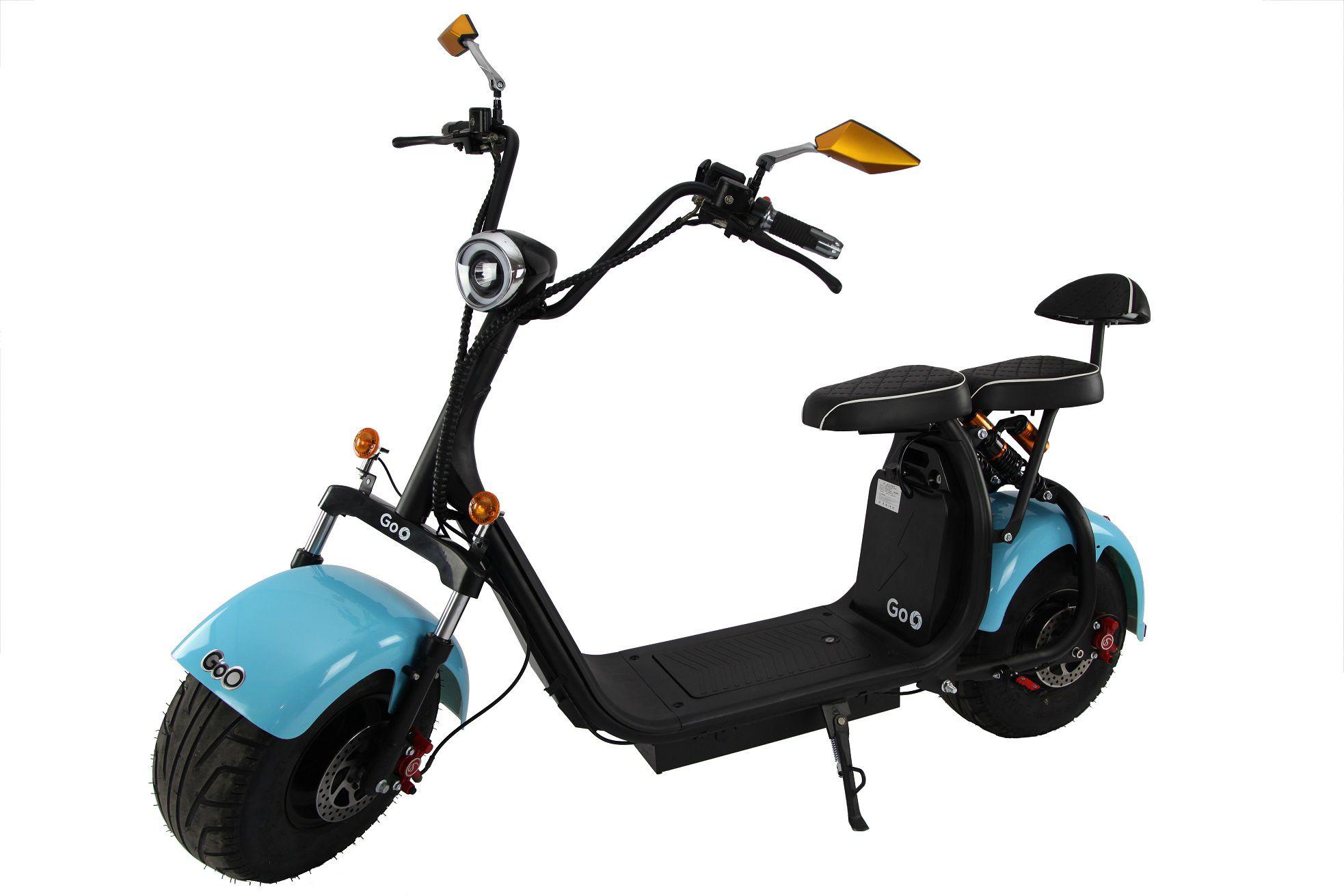 Scooter elétrica citycoco X7 2000W com bateria 20Ah