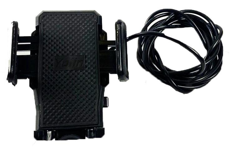 Suporte com carregador de celular para scooter eletrica citycoco