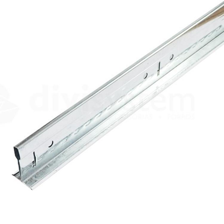 Perfil de Aço T Clicado Travessa Branco 625x24mm