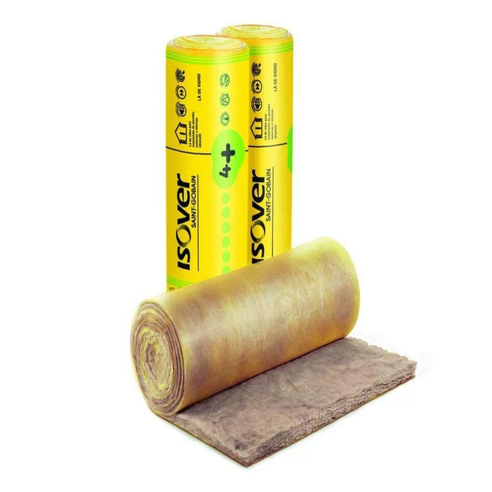 Rolo Lã de Vidro 1,20mx12,50mx50mm Isover