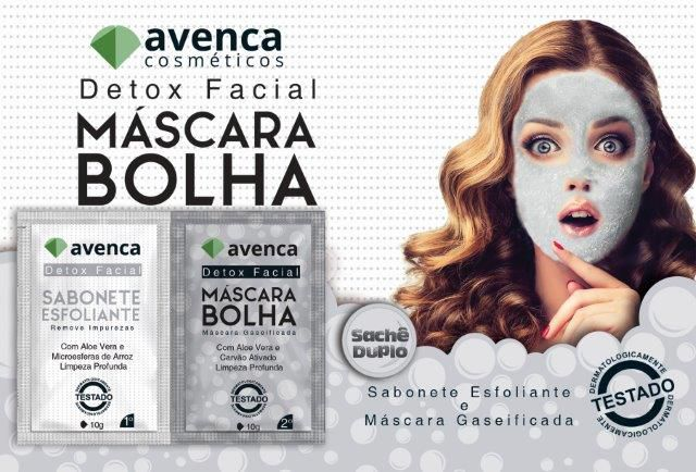 MASCARA de BOLHA (DETOX FACIL) - cx display com 12Kits - 20g