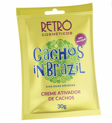 RETRO CACHOS INBRAZIL CREME DE PENTEAR SACHE 30g (CAIXA DISPLAY 20X30G)