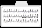 Cílios Postiços Tufinhos Flare Medio Preto - 10mm