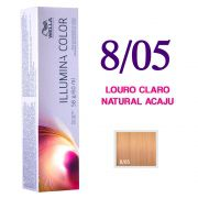 Wella Illumina Color Coloração 8/05 Louro Claro Natural Acaju 60g
