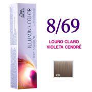 Wella Illumina Color Coloração 8/69 Louro Claro Violeta Cendrê 60g