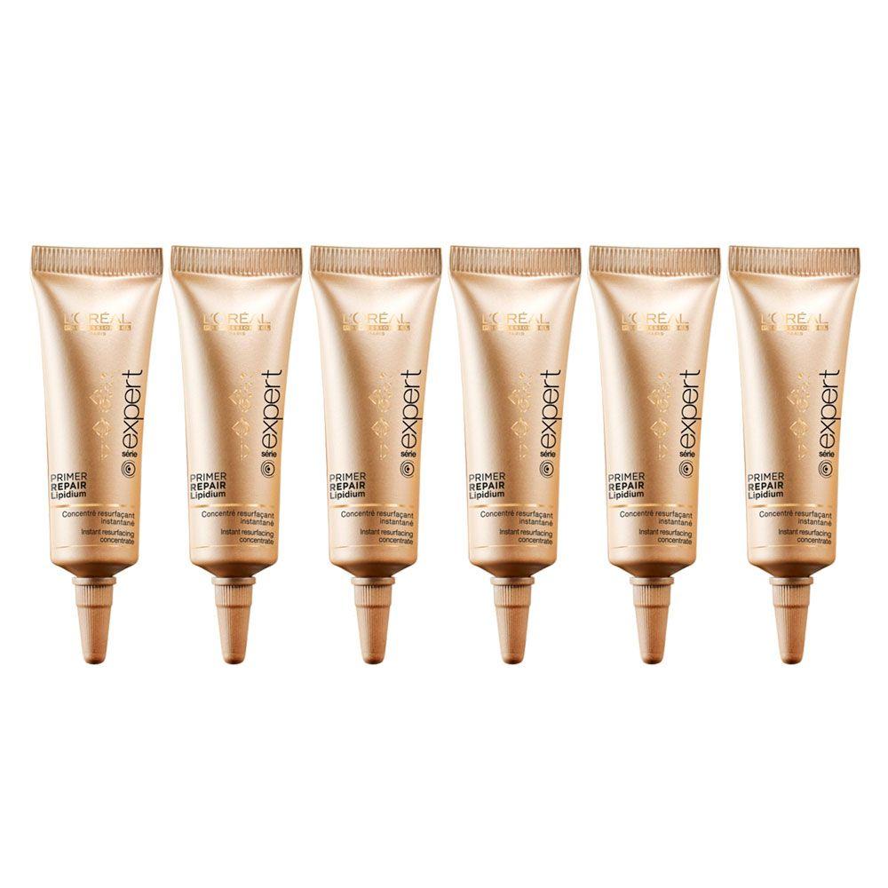 Ampola Primer Repair Lipidium Tratamento Reparador L'Oréal Professionnel 6x12ml