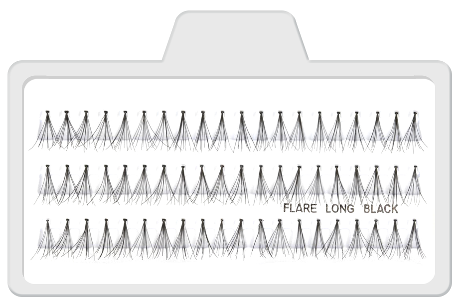 Cílios Postiços Tufinhos Flare Longo Preto - 12mm