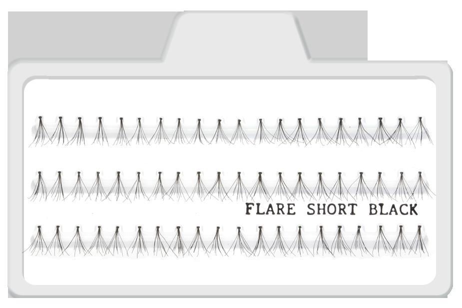 Cílios Postiços Tufinhos Flare Short Preto - 8mm