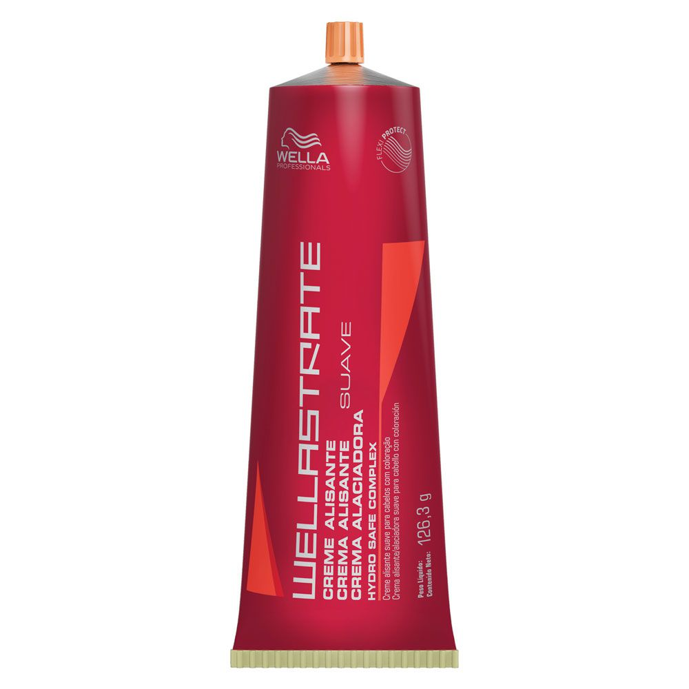 Creme Alisante Suave Wellastrate Wella Professional - 125g